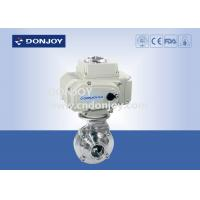China 2 INCH 1.4301 butterfly Electric Sanitary Ball Valve with CIP clean function wholesale