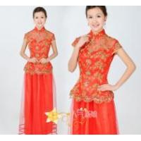 China Chinese traditional bridal  gown Tang suit wholesale