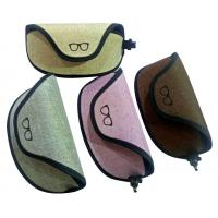 China 2018 newest large size  unisex oxford fabric soft sunglasses case with clip and pretty looks cheap  price hot selling wholesale