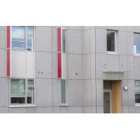 China Cellulose Exterior Fiber Cement Board , Light Grey Cement Sheet Wall Panels wholesale