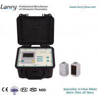 China Portable Doppler Ultrasonic Flow Meter With Two Transducers on sale