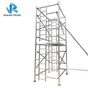 China 8m Height Folding Scaffold Ladder , Lightweight Aluminum Scaffold Platform on sale