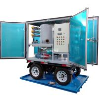China Weatherproof Double Stage Transformer Oil Filtration Plant with Trailer wholesale