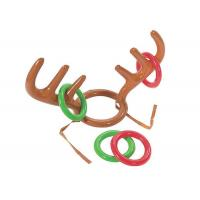 China No - Toxic Inflatable Kids Toys Reindeer Antler Ring Toss Hat Game For Christmas Holiday Party wholesale