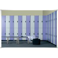 China good quality changing room 2 tier lockers and bench on sale