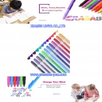 China Writing Smoothly Lucid Barrel 12 Color Line Air Erasable Pen wholesale