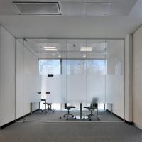 China Interior Tempered Frosted Glass Partition for Bathroom Office Partiton on sale