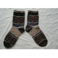 China Terry Loop Womens Wool Socks Thick Warm For Autumn / Winter wholesale