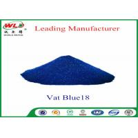 China Eco Friendly Blue Vat Dye CI Vat Blue 18 Navy Blue Ra Dyeing Of Cotton wholesale