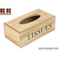 China Recycle Wooden Tissue Holder Home Tissue Box napkin box napkin container tissue organizer wholesale