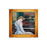 China Famous popular piano musical instrument oil painting , canvas abstract oil painting wholesale