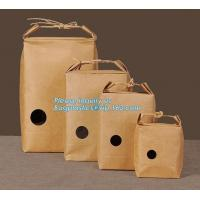 China 1kg Rice package kraft paper packaging bag brown kraft food paper bag,5kg10kg rice bag plastic packaging bag for rice,fl wholesale