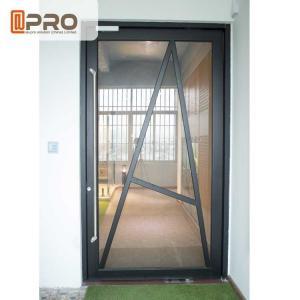 China Tempered Glass Pivot Front Door , Aluminium Contemporary Entrance Doors wholesale