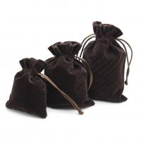 Luxury Suede Drawstring Jewelry Pouch Pantone Color With Embroidery Logo