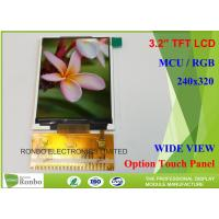 China Customizable LCD Screen 3.2 Inch 240x320 TFT LCD Display Option Touch Panel wholesale