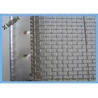 China Stone Vibrating Screen Wrapping Heavy Duty Metal Screen Mesh 45 Degree Hook wholesale