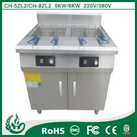 China Double tank two basket stainless steel Induction heating deep fryer wholesale