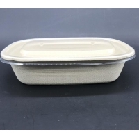 Buy cheap Sald Bio Rectangle U Shape Sugarcane Tableware Food Container With Transparent from wholesalers