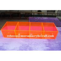 Colorful acrylic storage box plexiglass food display box