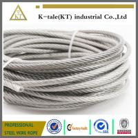 China AISI 304 316 7x19 ground wire Stainless Steel Wire Rope for external use wholesale