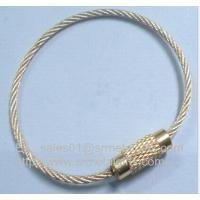 China stainless steel wire cable rope loop with copper screw lock wholesale