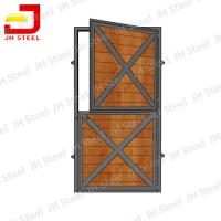 China Portable Horse Stall Panels For Barns / Metal Horse Stall Doors 1200*2200mm Size wholesale