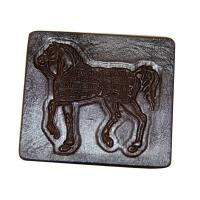 China Embossed Jeans Leather Patches , Personalized Clothing Labels wholesale