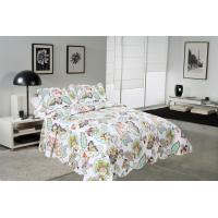 China Big Cockscomb Flower Quilted Bed Covers , Full Size Bed Quilt Sets With ISO9001 Certification wholesale