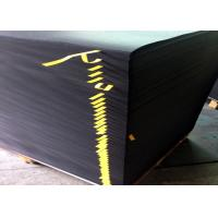China Both Sides Coated Black Paperboard Stiffness 700 * 1000mm Black Cardboard Sheets wholesale