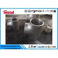 China Incoloy 825 Nickel Alloy Pipe Fittings Equal Tee For Oil Gas Sewage Transport wholesale