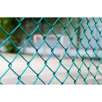 China 7 Ft PVC Coated Chain Link Fence Fabric Residential Hot Dipped Galvanized wholesale