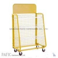 China Wheeled Steel Retail Display Stands Wire Mesh Display Shelving 10-30kgs on sale