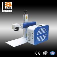 China Portable Laser Marker , Mini Metal Marking Laser Machines With Rotation wholesale