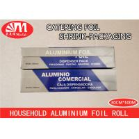 China Extra Heavy Duty Aluminium Foil , Household Aluminium Foil Roll 13 Micron Thickness wholesale