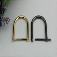 China High quality metal adjuster d ring buckle,easy datechable bag strap buckle 28mm wholesale