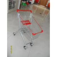 Quality Q195 Supermarket Push Cart 60L Capacity Small Shopping Trolley 750x461x935mm for sale