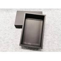 China Durable Push - Pull  Cardboard Gift Boxes ,Recycle Black Kraft Gift Box wholesale