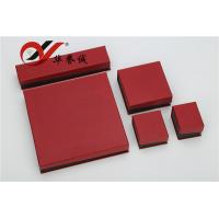 China Red Special Paper Jewelry Boxes Set Customized Logo For Jewelry Storage wholesale