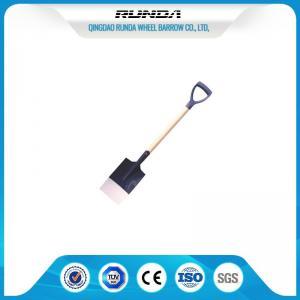 China Wooden Handle Steel Spade Shovel S512 , Hole Digging SpadeFlat Nose Multi Colors on sale