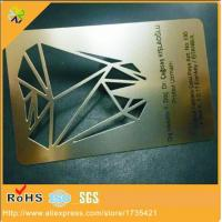 China Cheap price Stainless Steel credit card size printed metal card for business wholesale