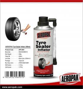 China Aeropak Aerosol Fix Flat Tyre Sealer Inflator With Eco-friendly Formula 650ml wholesale