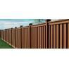 China Anti - Oxidation Cedar Composite Picket Fence Panels , Brown Moisture Composite Wood Fence wholesale