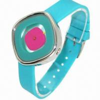 China Promotional Silicone Wacth, special dial, fashionable style for women, plastic case and waterproof wholesale