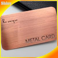 Brushed metal card with silver, gold, copper color metal card box
