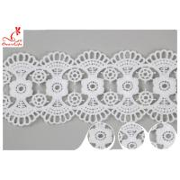 China DTM Embroidered Floral Guipure Water Soluble Lace Trim Pass SGS Certificate wholesale
