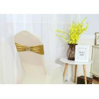 China Fancy Chair Covers And Sashes Metallic Gold Color Universal Spandex With Buckle wholesale