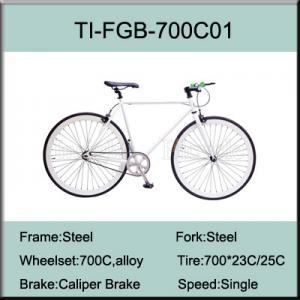 China 700C Steel Fixed Gear Bike on sale