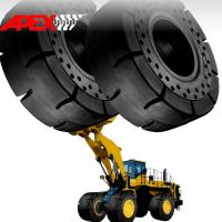 China APEX 35/65-33 Solid Tire, Cushion Tyre for Wheel Loader, Integrated Tool Carrier, Elevating Motor Scraper wholesale