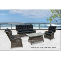 All Weather Popular Patio Seating Sets , Garden Outdoor Wicker Patio Furniture Manufactures