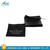 Quality Accessories Damask Clothing Label Tags , Custom Made Apparel Garment Woven Label for sale